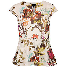 Buy Ted Baker Summer Floral Top, Natural Online at johnlewis.com
