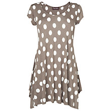 Buy Phase Eight Tegan Top, Mushroom/Ivory Online at johnlewis.com