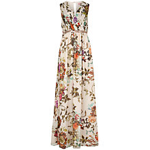 Buy Ted Baker Cristen Floral Print Maxi Dress, Natural Online at johnlewis.com