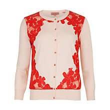 Buy Ted Baker Ettia Lace Detailed Cardigan, Natural Online at johnlewis.com