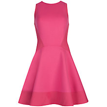 Buy Ted Baker Hearn Contrast Side Dress, Deep Pink Online at johnlewis.com