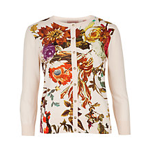 Buy Ted Baker Floral Print Cardigan, Natural Online at johnlewis.com