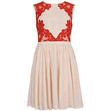 Buy Ted Baker Russi Lace Colour Block Dress, Natural Online at johnlewis.com