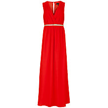 Buy Ted Baker Rosani Cross Front Maxi Dress, Dark Orange Online at johnlewis.com