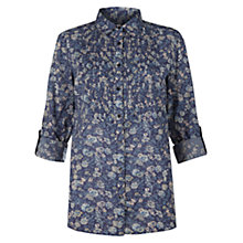 Buy Jigsaw Floral Mitford Bib Shirt, Blue Online at johnlewis.com