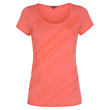 Buy Jigsaw Cotton Modal Pleat T-Shirt, Coral Online at johnlewis.com