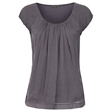 Buy Jigsaw Chiffon Top, Charcoal Online at johnlewis.com
