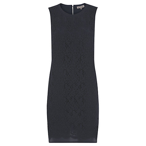 Buy Jigsaw Cotton Lace Silk Back Shift Dress, Navy Online at johnlewis.com