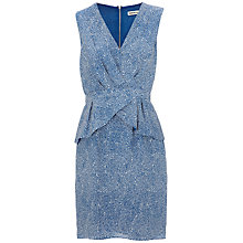Buy Whistles Lara Micro Drape Dress, Blue/Multi Online at johnlewis.com