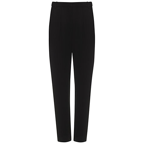 Buy Whistles Nelly Crepe Trousers, Black Online at johnlewis.com