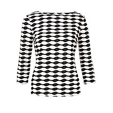 Buy COLLECTION by John Lewis Sylvia Textured Bubble Top, Black/Ivory Online at johnlewis.com