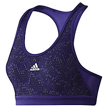 Buy Adidas Tech Fit Sports Bra, Purple Online at johnlewis.com