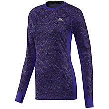 Buy Adidas Techfit Climawarm Top, Purple Online at johnlewis.com