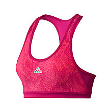 Buy Adidas Tech Fit Sports Bra, Pink Online at johnlewis.com