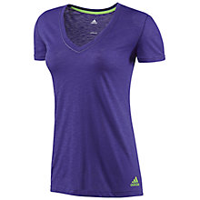 Buy Adidas Boyfriend Double V T-Shirt Online at johnlewis.com