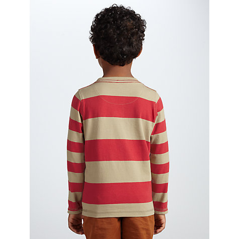 Buy John Lewis Boy Reindeer Stripe Top, Red/Cream Online at johnlewis.com