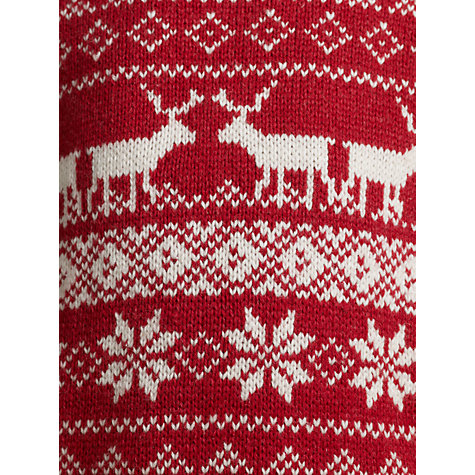 Buy John Lewis Boy Christmas Fair Isle Jumper, Red/Cream Online at johnlewis.com
