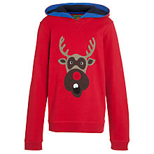Buy John Lewis Boy Hooded Reindeer Top, Red Online at johnlewis.com