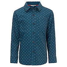 Buy John Lewis Boy Cross Print Shirt, Navy Online at johnlewis.com