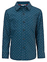John Lewis Boy Cross Print Shirt, Navy