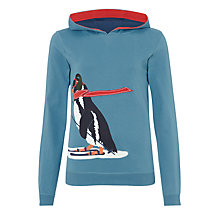 Buy John Lewis Boy Penguin Hoodie, Teal Online at johnlewis.com