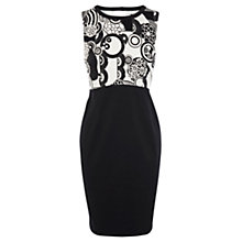 Buy Oasis Two-in-One Mono Dress, Black/White Online at johnlewis.com