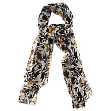 Buy Oasis Silhouette Print Scarf, Black/White Online at johnlewis.com