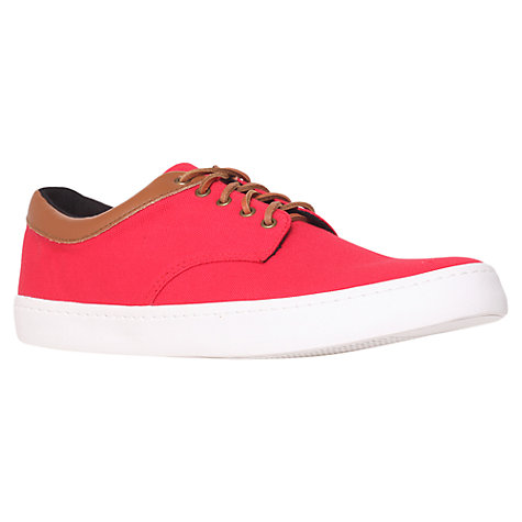 Buy KG by Kurt Geiger Witham Canvas Trainers, Red Online at johnlewis.com