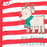 Buy John Lewis Baby Stripe Reindeer Sleepsuit, Red/White Online at johnlewis.com