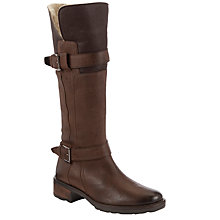 Buy John Lewis Cheadle Fur Lined Boots, Brown Online at johnlewis.com