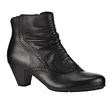 Buy Gabor Pang Ankle Boots, Black Online at johnlewis.com