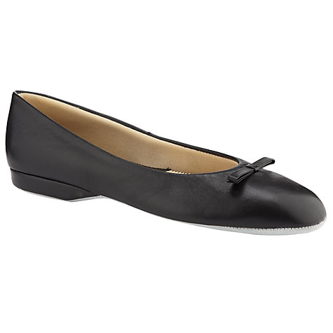 Buy John Lewis Sienna Leather Ballerina Slippers, Black Online at johnlewis.com
