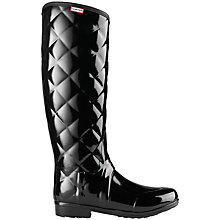 Buy Hunter Sandhurst Savoy Wellington Boots, Black Online at johnlewis.com