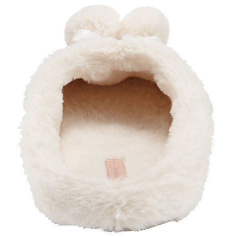 Buy John Lewis Berg Furry Mule Slippers, Cream Online at johnlewis.com