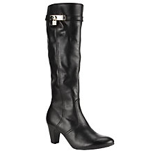 Buy Gabor Queen Knee Boot, Black Online at johnlewis.com