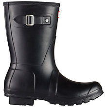 Buy Hunter Original Short Wellington Boots, Black Online at johnlewis.com