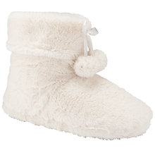Buy John Lewis Bizet Faux Fur Slipper Boots, Cream Online at johnlewis.com