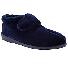 Buy John Lewis Bernstein Support Boot Slipper, Navy Online at johnlewis.com