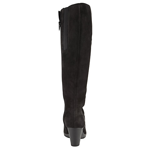 Buy Gabor Willow Knee Boot, Black Online at johnlewis.com