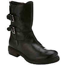 Buy Collection WEEKEND by John Lewis Pantheon Biker Boots, Black Online at johnlewis.com