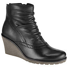Buy Gabor Knight Wedge Ankle Boots, Black Online at johnlewis.com