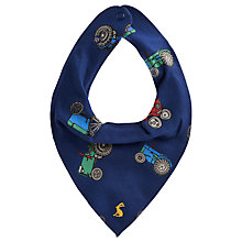 Buy Baby Joule Tractor Print Bib, Navy Online at johnlewis.com