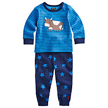 Buy Baby Joule Byron Cow Top And Trouser Set, Blue Online at johnlewis.com