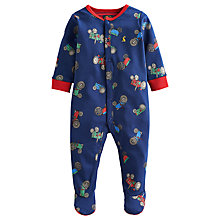Buy Baby Joule Ziggy Tractor Sleepsuit, Blue/Multi Online at johnlewis.com