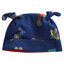 Buy Baby Joule Tractor Print Hat, Blue Online at johnlewis.com