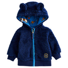 Buy Baby Joule Teddy Bear Hooded Fleece, Blue Online at johnlewis.com