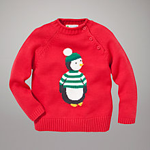 Buy John Lewis Penguin Jumper, Red/Multi Online at johnlewis.com