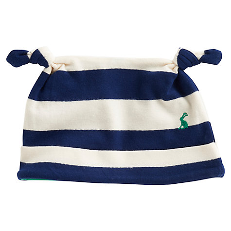 Buy Baby Joule Striped Hat, Blue/Cream Online at johnlewis.com