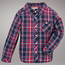 Buy John Lewis Long Sleeve Check Shirt, Red/Blue Online at johnlewis.com
