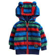 Buy Baby Joule Baby Ted Zip Through Fleece Hoodie, Multi Online at johnlewis.com